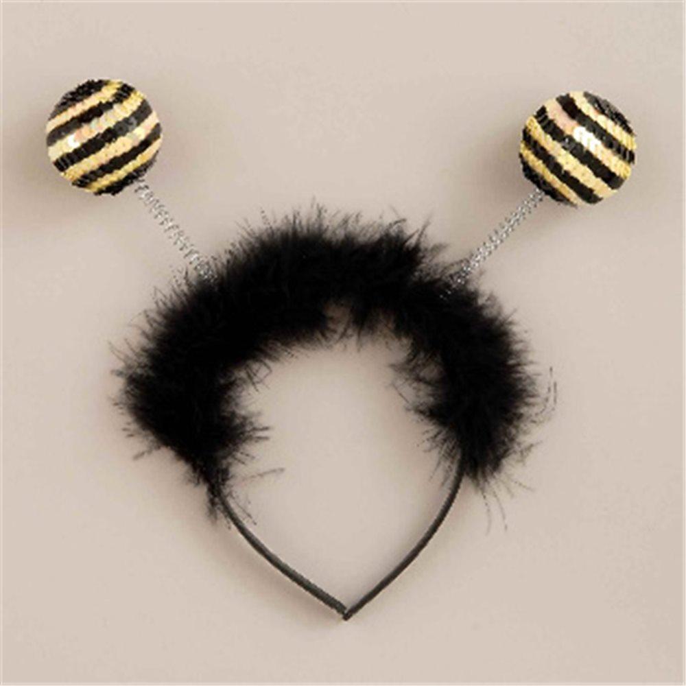 Picture of Sequin Bee Antenna Headband
