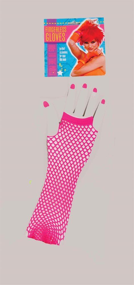 Picture of Long Fingerless Fishnet Gloves
