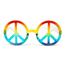 Picture of Rainbow Peace Sign Glasses