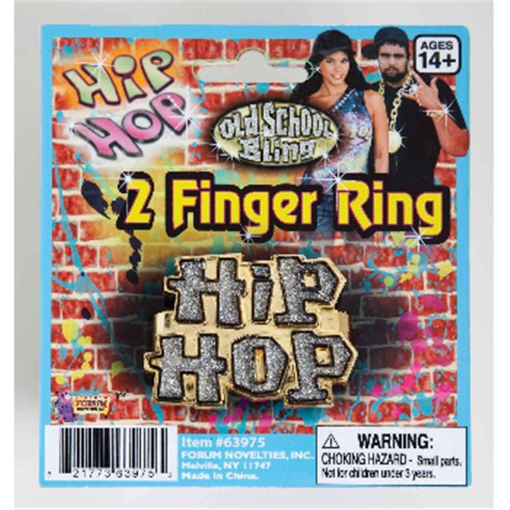 Picture of Hip Hop  2 Finger Ring