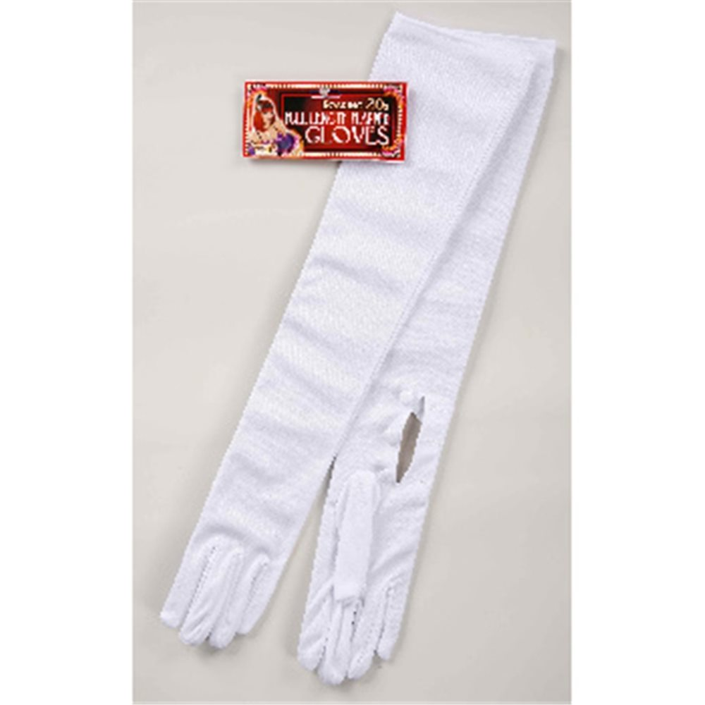 Picture of Long White Nylon Gloves
