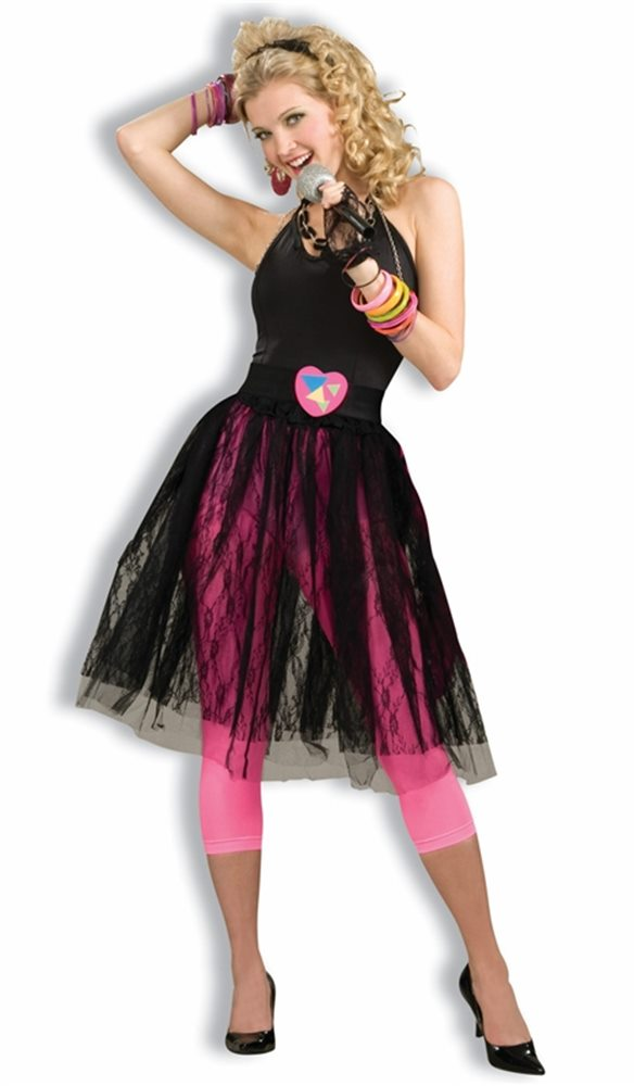 Picture of 80s Pop Music Star Adult Skirt