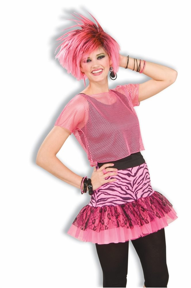 Picture of 80s Zebra Pop Party Skirt