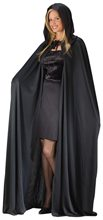 Picture of Black Hooded Adult Unisex Cape