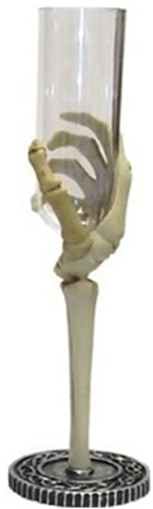 Picture of Skeleton Hand Flute Glass