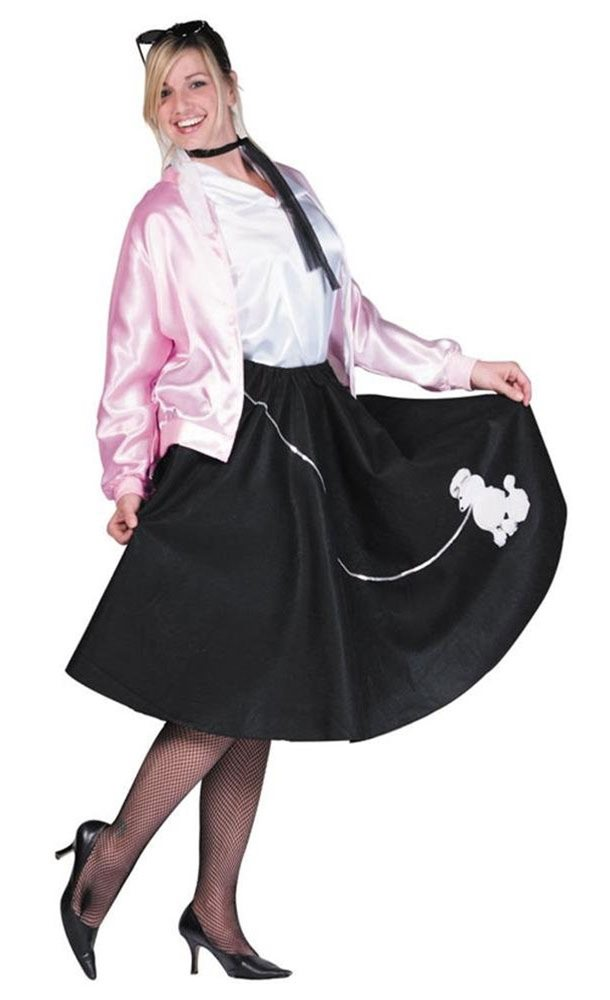 Picture of Deluxe 50s Poodle Skirt Adult Costume