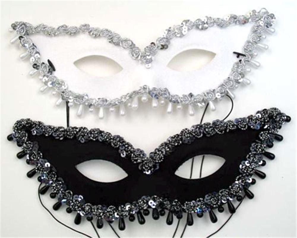Picture of Elegant Black Raindrop Mask