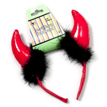 Picture of Devil Horn Headband Red