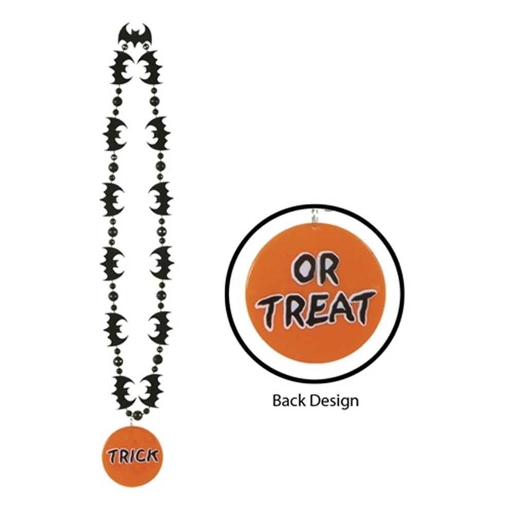 Picture of Trick Or Treat Bat Bead Necklace