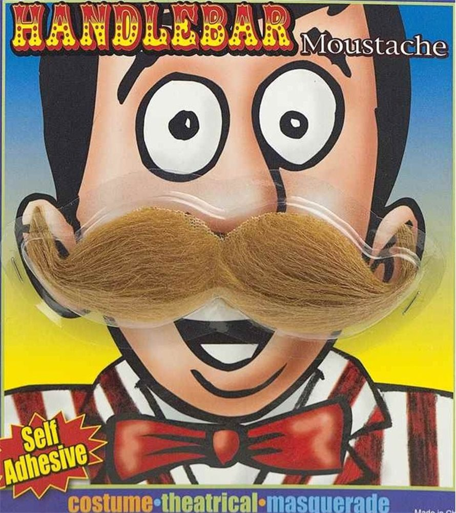 Picture of Handlebar Moustache Brown