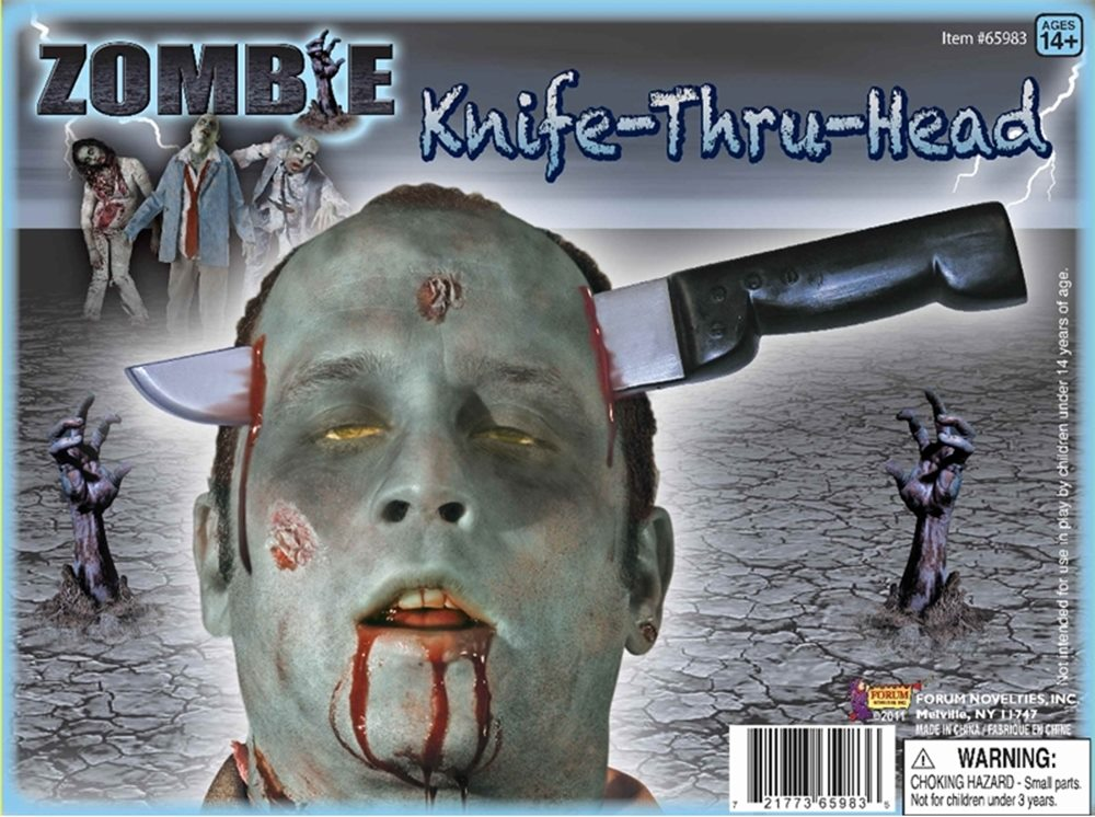 Picture of Zombie Knife Thru Head