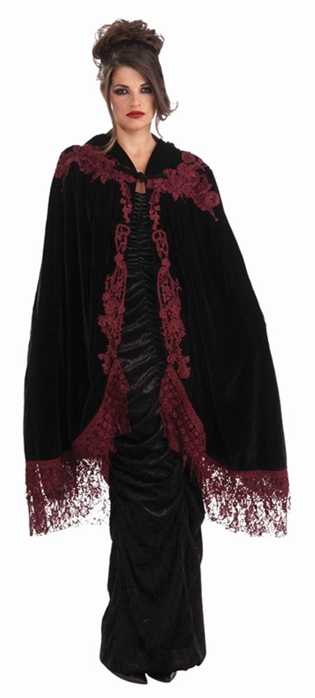 Picture of Velvet Lace Adult Cape