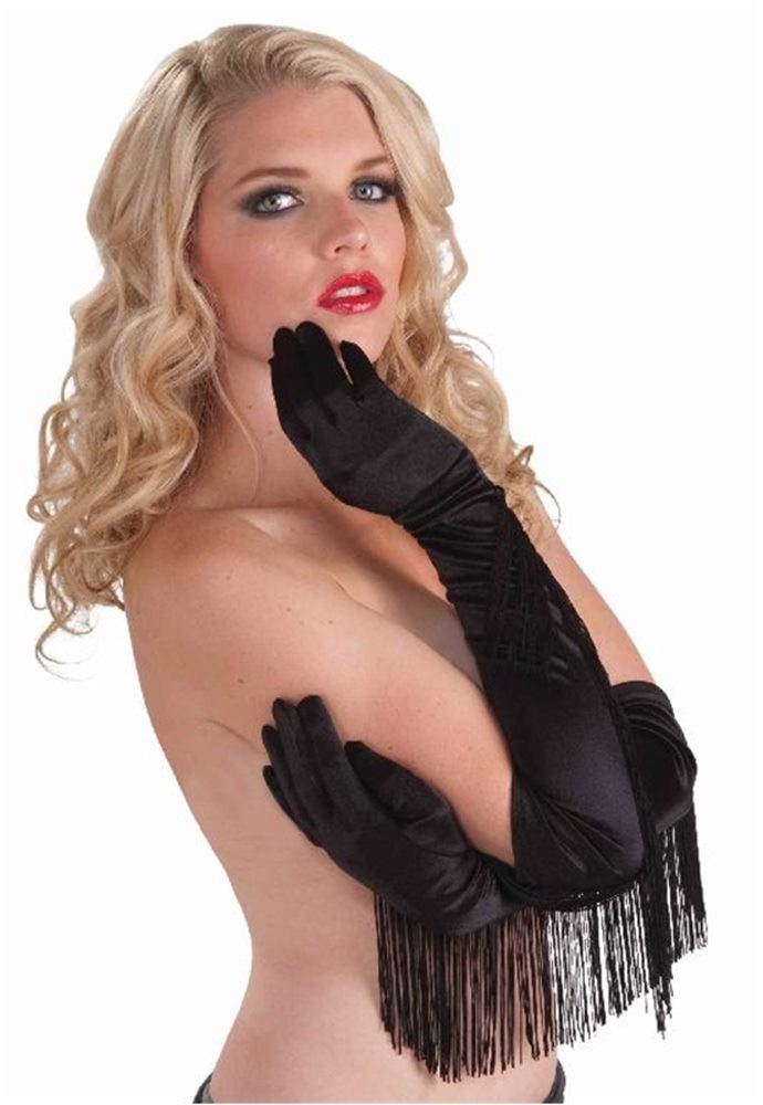 Picture of Satin Fringed Gloves