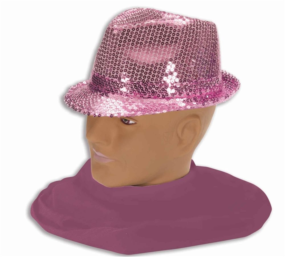 Picture of Pink Sequin Fedora Adult Hat