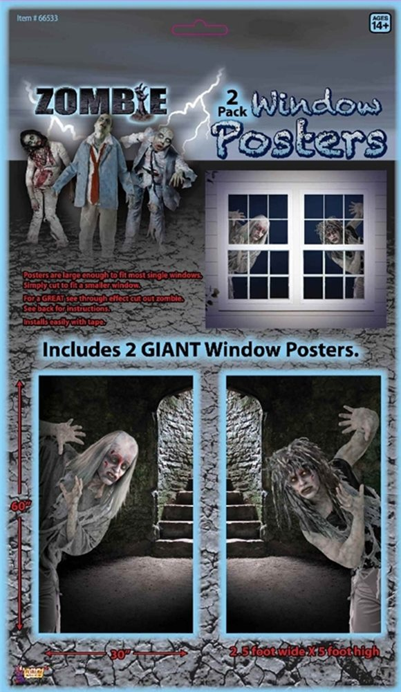 Picture of Zombie Window Posters