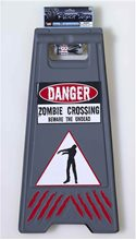 Picture of Zombie Crossing Sign and Tape