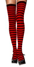 Picture of Black and Red Striped Thigh Highs