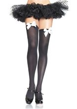 Picture of Thigh High Stockings With Bow Accent