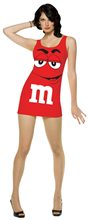 Picture of Red M&M Red Dress Adult Womens Costume