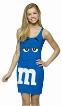Picture of M&M Blue Dress Teen Costume