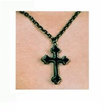 Picture of Cross Necklace Gold/Black