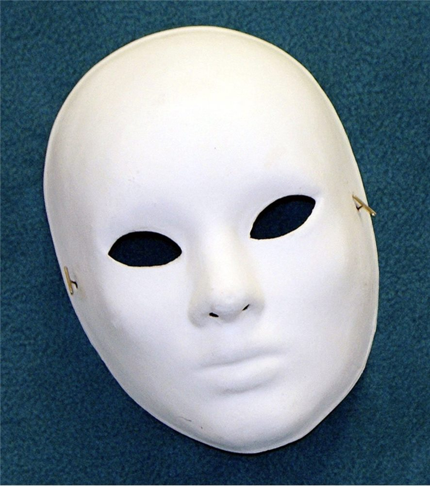 Picture of Unpainted Face Adult Mask