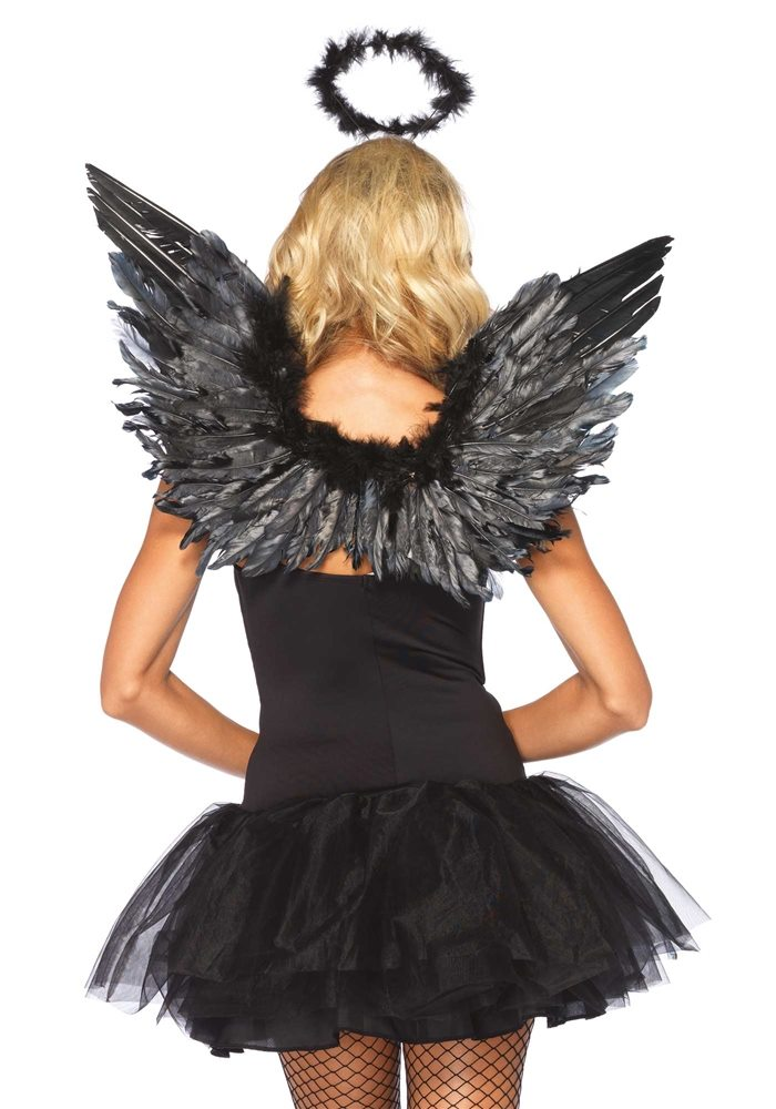Picture of Black Angel Wings Halo Kit