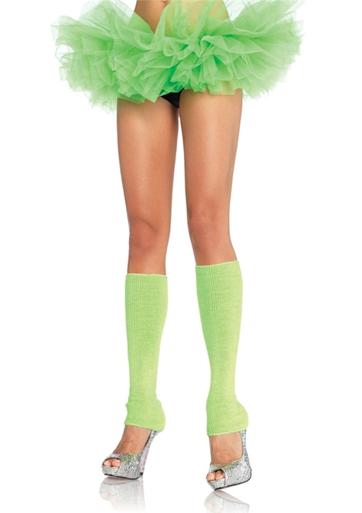 Picture of Neon Green Ribbed Leg Warmers