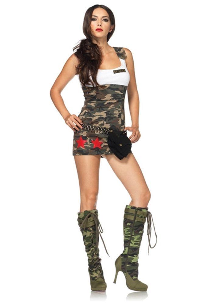 Picture of Camo Combat Cutie Adult Womens Costume