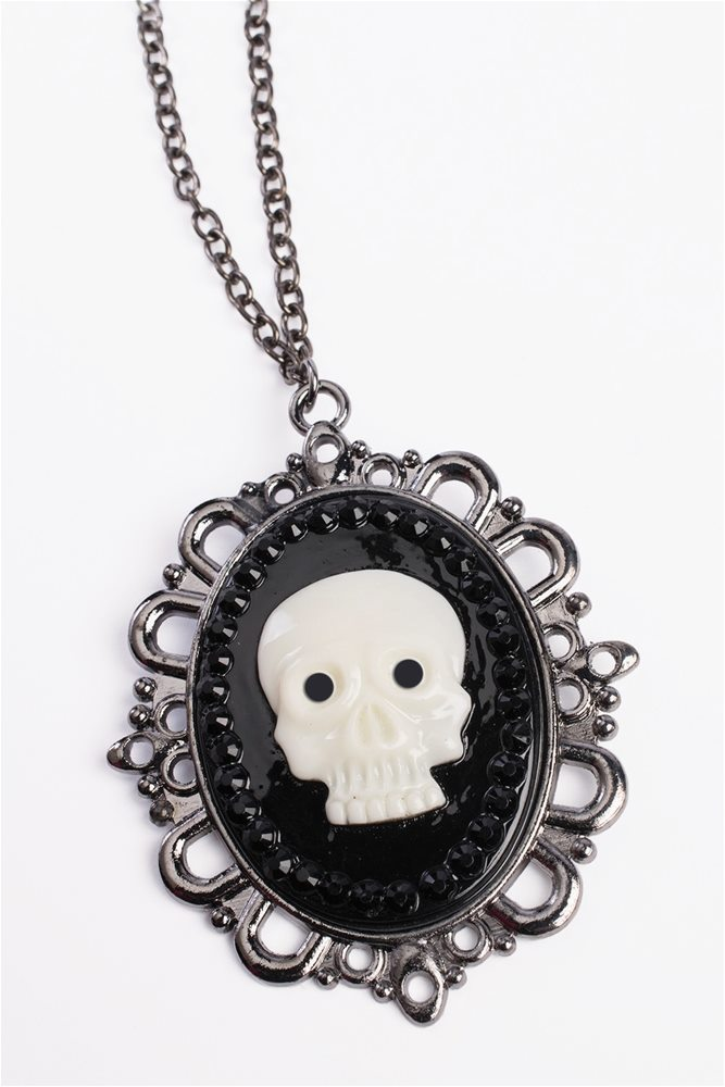 Picture of Pirate Skull Cameo Necklace