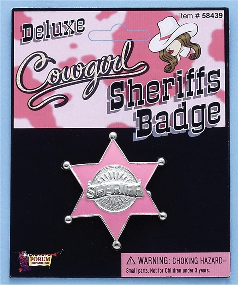 Picture of Cowgirl Pink Sheriff Badge