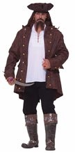 Picture of Pirate Captain Plus Size Adult Mens Costume