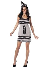 Picture of Silver Crayola Dress Adult Womens Costume