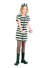 Picture of Deluxe Jail Bird Teen Costume