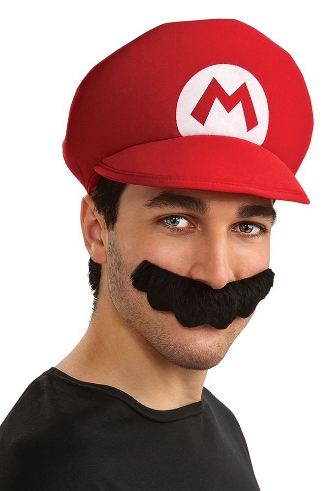 Picture of Mario Brothers Mario Hat & Mustache
