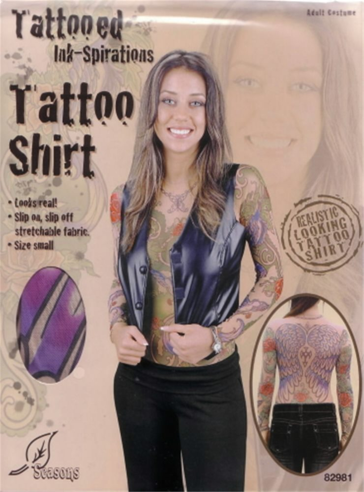 Picture of Tattoo Adult Womens Shirt