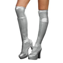 Picture of Silver Metallic Adult Boot Covers