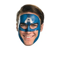 Picture of Captain America Tattoo Face Mask