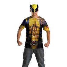Picture of Wolverine T-Shirt and Mask Plus Size Adult Mens Costume