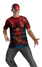 Picture of Spider-Man T-Shirt and Mask Plus Size Adult Mens Costume