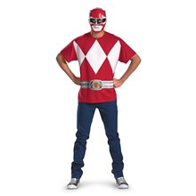 Picture of Red Ranger T-Shirt With Mask Adult Costume