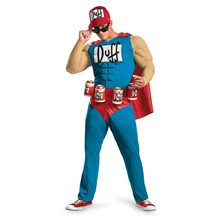 Picture of Simpsons Duffman Classic Muscle Adult Mens Costume