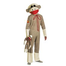 Picture of Sock Monkey Plus Size Adult Unisex Costume