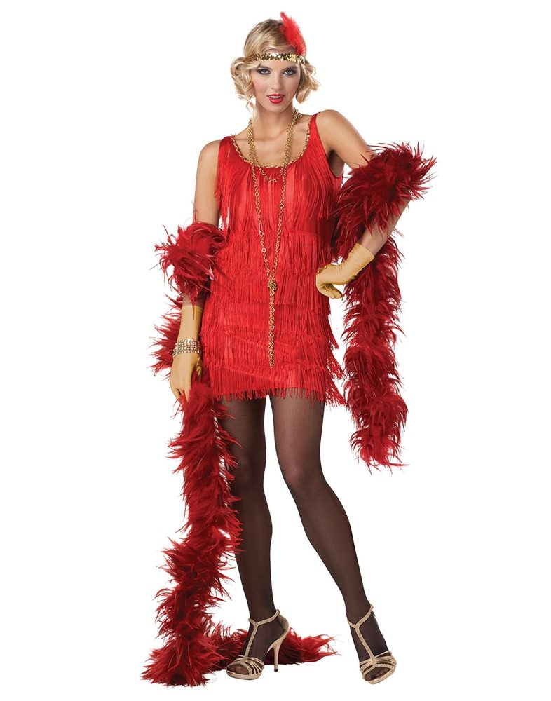 Picture of Red Fashion Flapper Adult Womens Costume