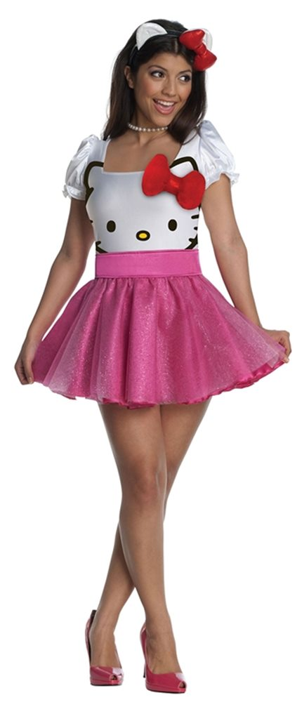 Picture of Hello Kitty Face Tutu Dress Adult Costume