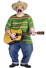 Picture of Mexican Serape Plus Size Adult Mens Costume