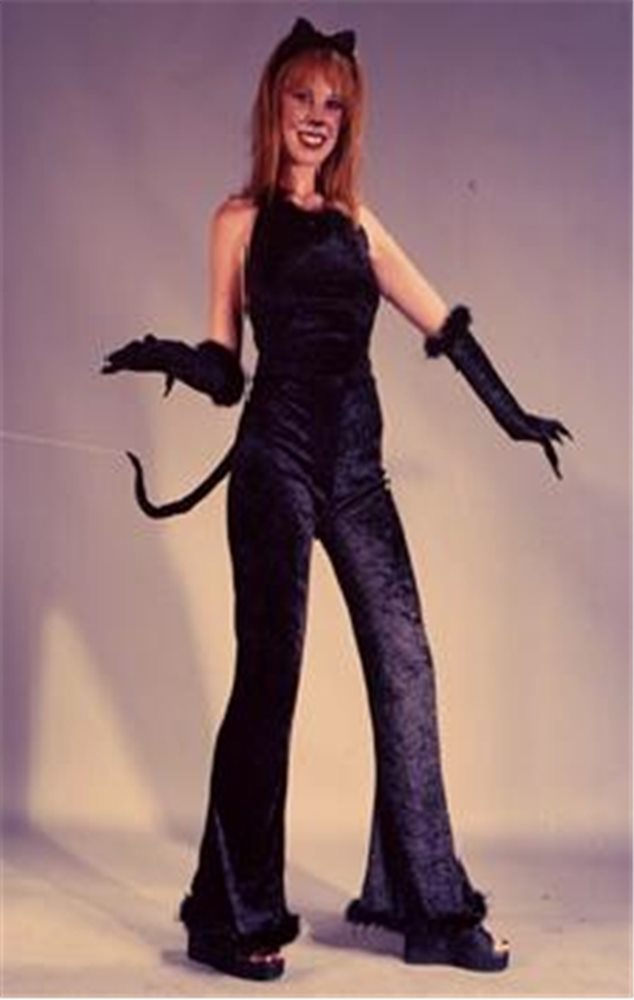 Picture of Deluxe Feline Velvet Adult Women Costume