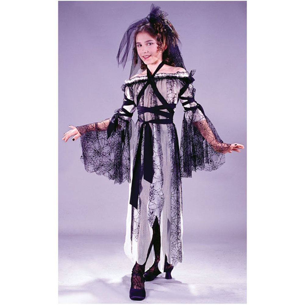 Picture of Deluxe Black Widow Bride Child Costume