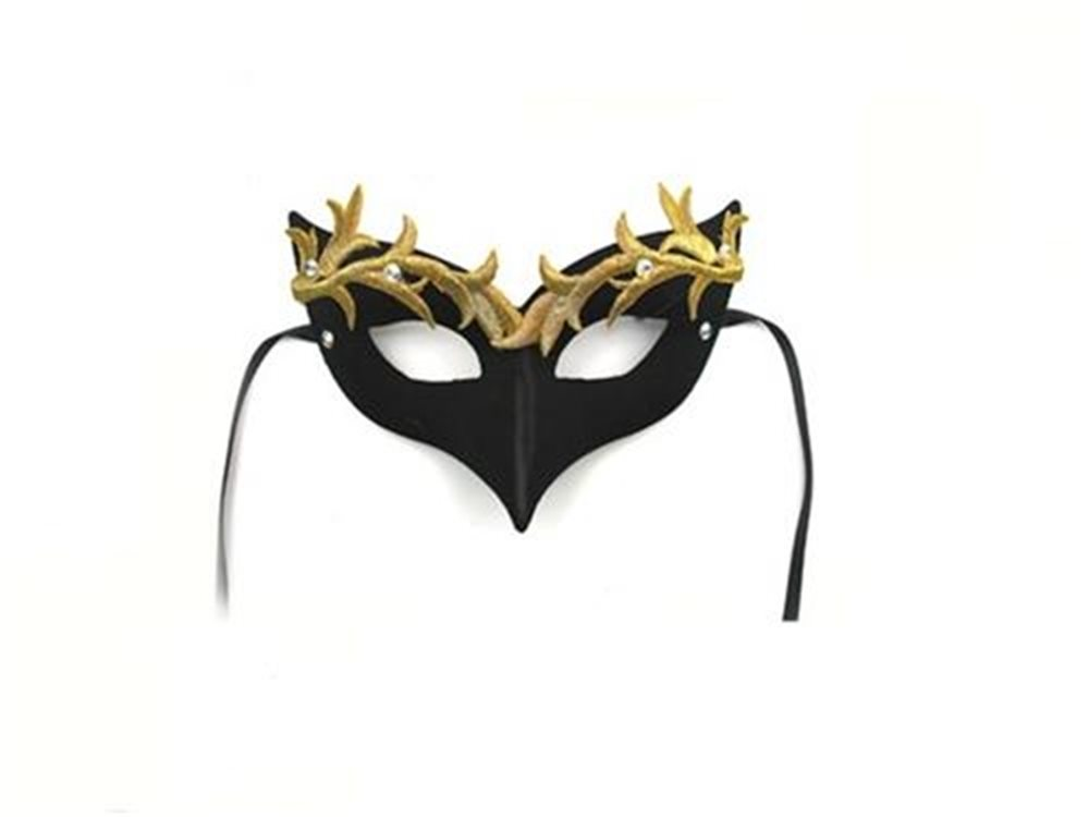 Picture of Gold Leaf Female Masquerade Adult Mask