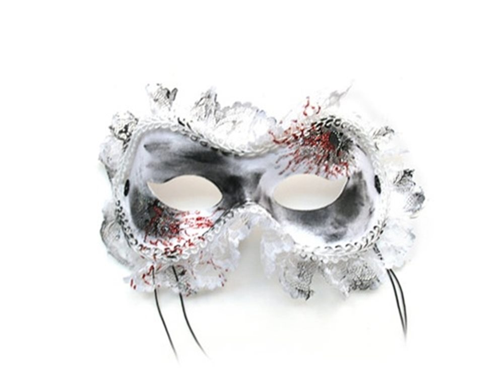 Picture of White Widow Blood Masquerade Adult Mask
